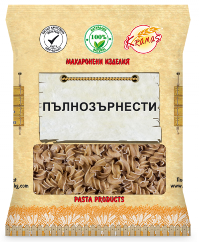 Pasta from wholegrain wheat flour
