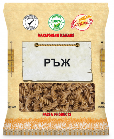 Pasta from rye flour