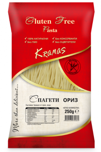 Pasta from rice flour