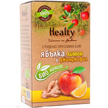"Bio juice ""Healty"" apple, lemon and ginger"