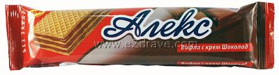 Dietary Alex chocolate wafer 25 g