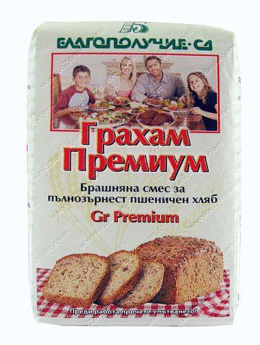 """Брашнена смес за пълнозърнест пшеничен хляб """"Грахам Премиум""""-500g"""