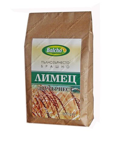 Пълнозърнесто брашно от Двузърнест лимец 500 гр. - Балчо