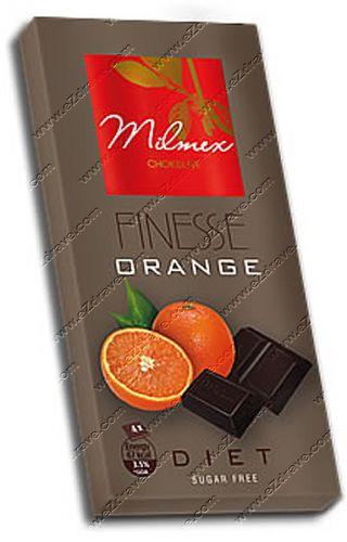 """Диетичен черен шоколад """"FINESSE"""" с портокал 80 гр."""