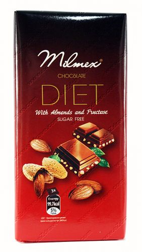 Chocolate Diet  with Almonds and fructose