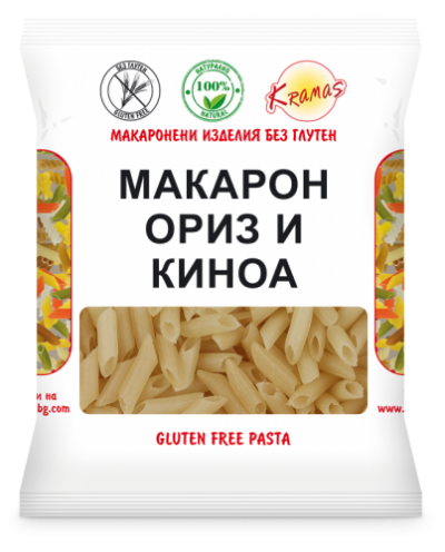 Macaroni from rice flour and quinoa