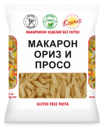 Macaroni from rice and millet flour