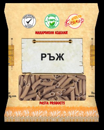 Macaroni from rye flour