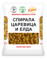 Pasta from corn and buckwheat flour